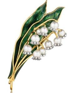 Verdura Jewelry | Lily of the Valley Brooch