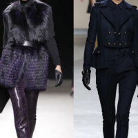 Runway Spotlight: Leather Gloves, Bows & Tiered Neck Embellishments