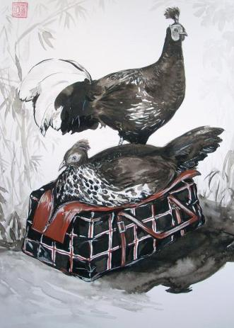 Pablo Piatti - DRIES VAN NOTEN Tote & Crested Fireback Pheasants