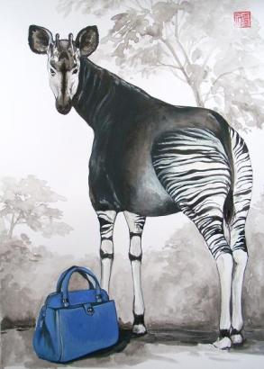 Pablo Piatti - MARC JACOBS leather tote & Okapi