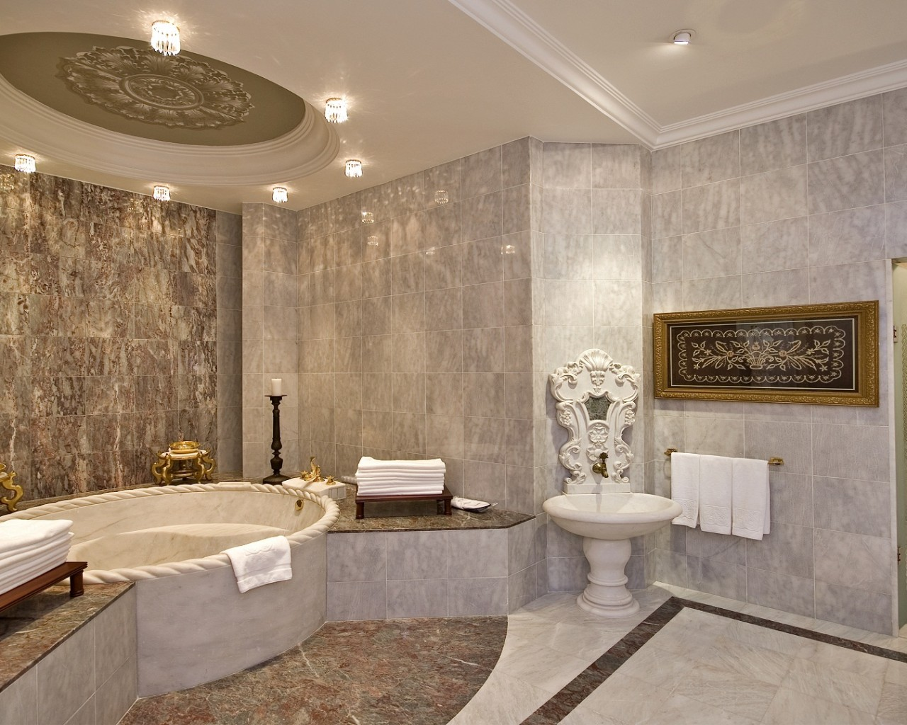 Ra an palace kempinski sultan suite master bathroom for Masters toilet suites