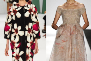 Runway Spotlight: Bouquets of Flowers, Black|White Brushstrokes & Patches ofSheer